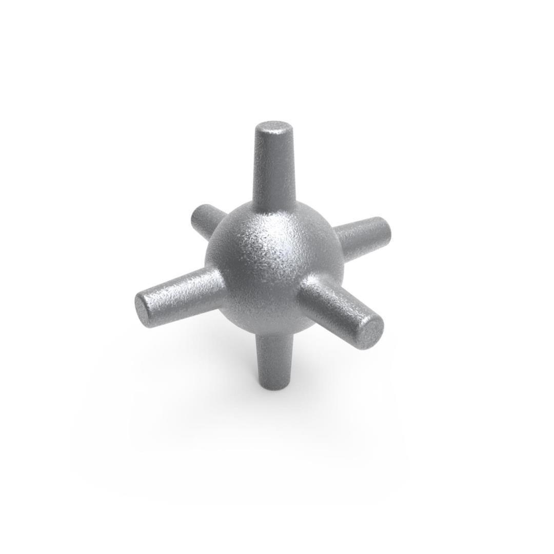 Set van 4 steunstaak hoek koppelstukken | Ø 6,5 cm