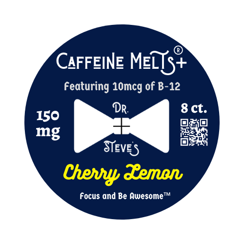 Cherry Lemon 150mg Caffeine Melts® PLUS (10mcg B-12, 8/15ct)