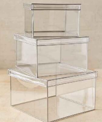 91029 Caja cubo transparente mediana