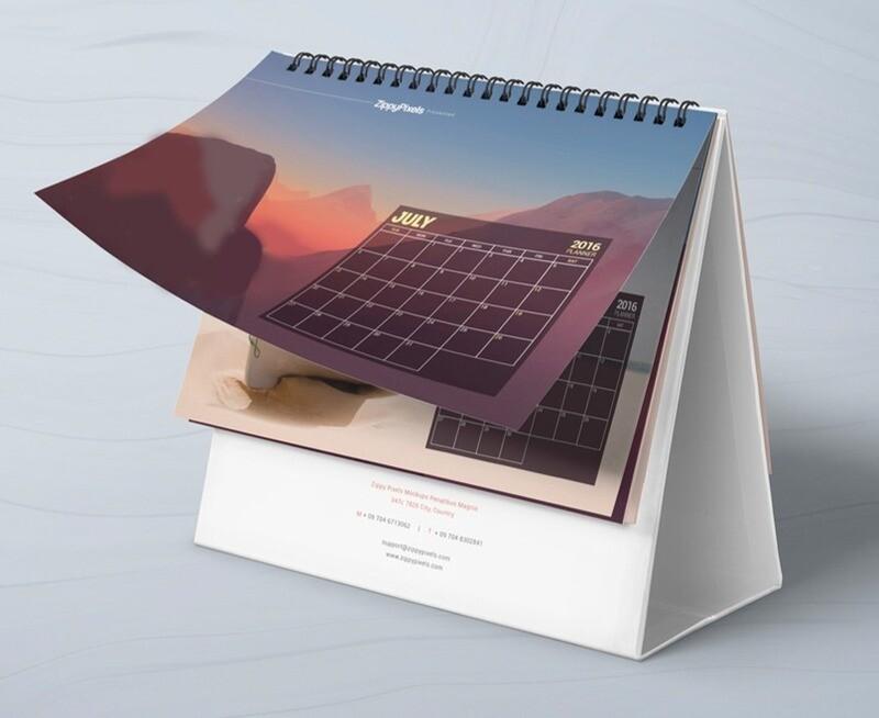 Calendario personalizado con base