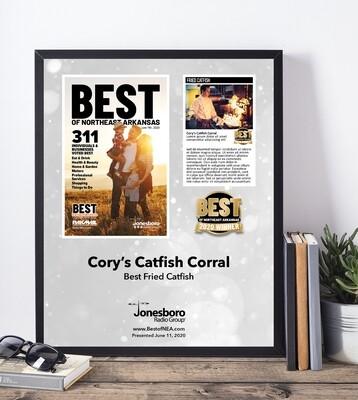 2020 Cover Gold Winner's Modern Plaque