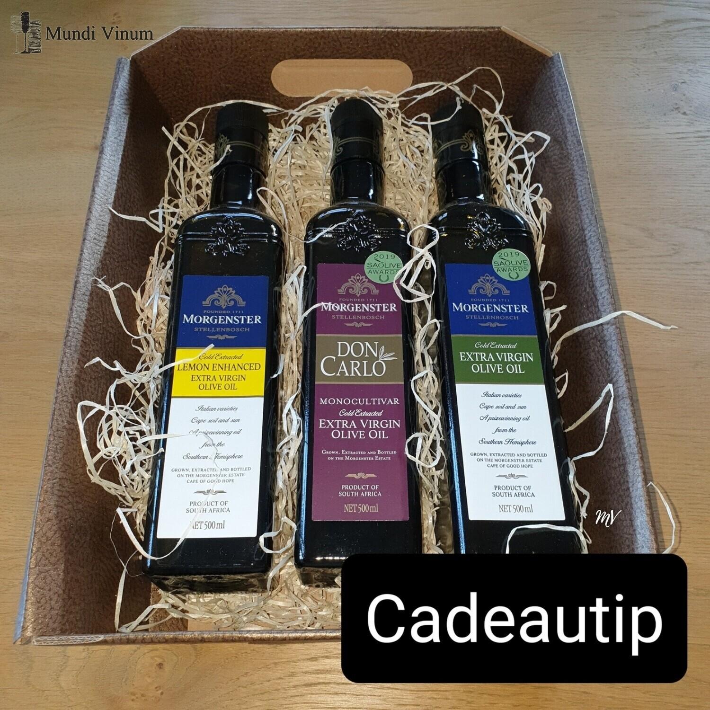 MORGENSTER OLIVE OIL CADEAU PAKKET (3 Flessen)