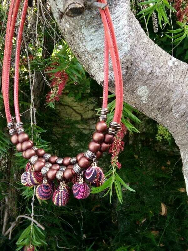 Cherish cork necklace