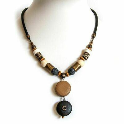 Leopard Print Cork necklace