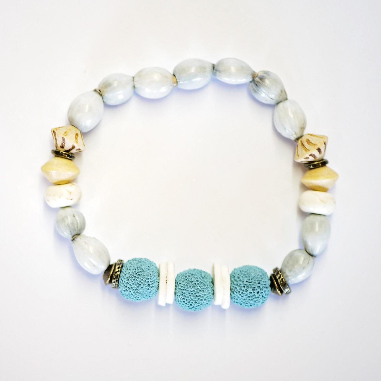 Zulu seed aroma bracelets in blue