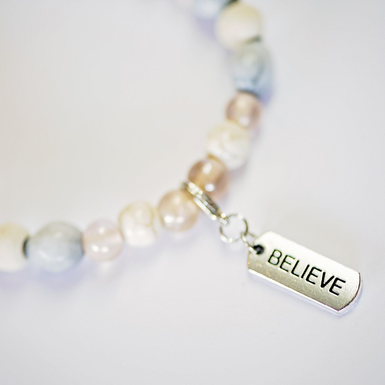 Assorted word charm Zulu seed Natural Inspirational bracelet