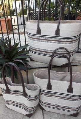 Natural stripe Basket