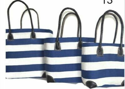 Blue and white stripe Basket