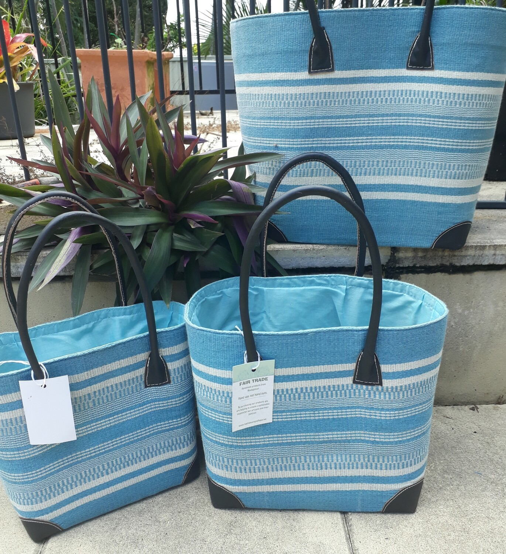 Torquoise stripe Basket