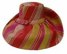 Medium brim raffia striped hats