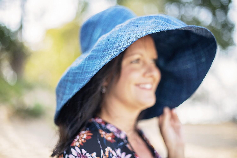 Ladies plain wide brim hats