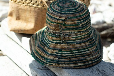 Teal crochered hat