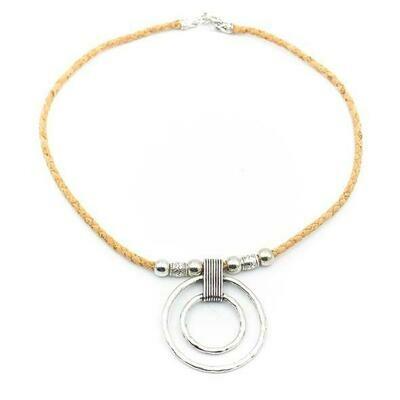 Spiral cork necklace