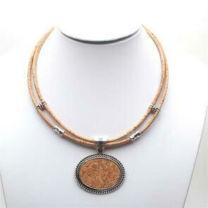 Cork necklace and pendant
