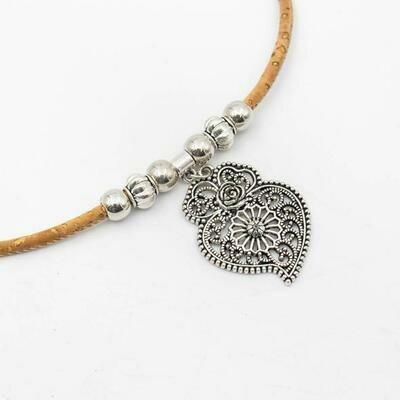 Vinan Heart Cork Necklace