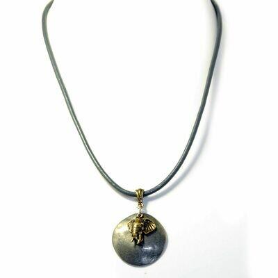 Elephant pendant on cork necklace