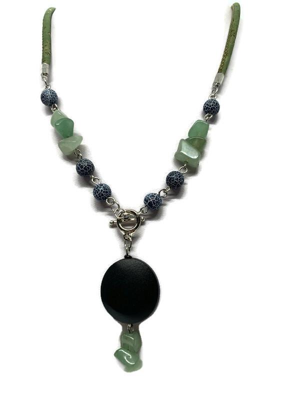 Green adventurine gemstone necklace