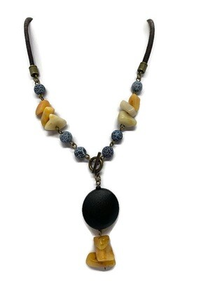 Topaz gemstone necklace