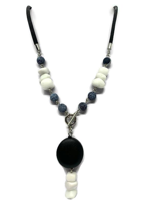 White howlite gemstone necklace