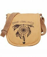 PRINTED CANVAS CROSS BODY BAG