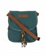 Waxed canvas messenger bag