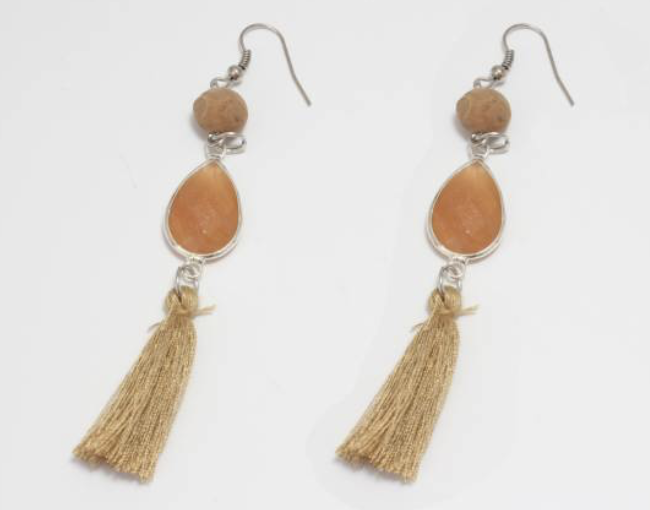 Cork Tassle Earings