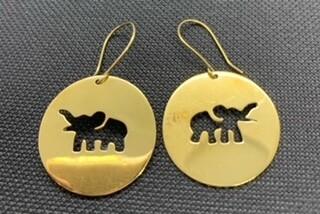 Elephant Bomb Earings