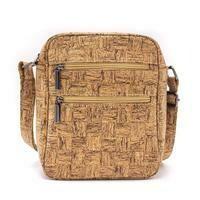 Checkered Cork Messenger Bag