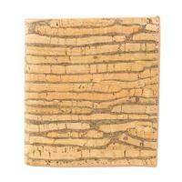 Mens Striped Cork Wallet