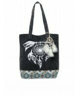 Canvas Tote with feathers