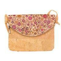 Delilah Red blossoms Cork Messenger Bag