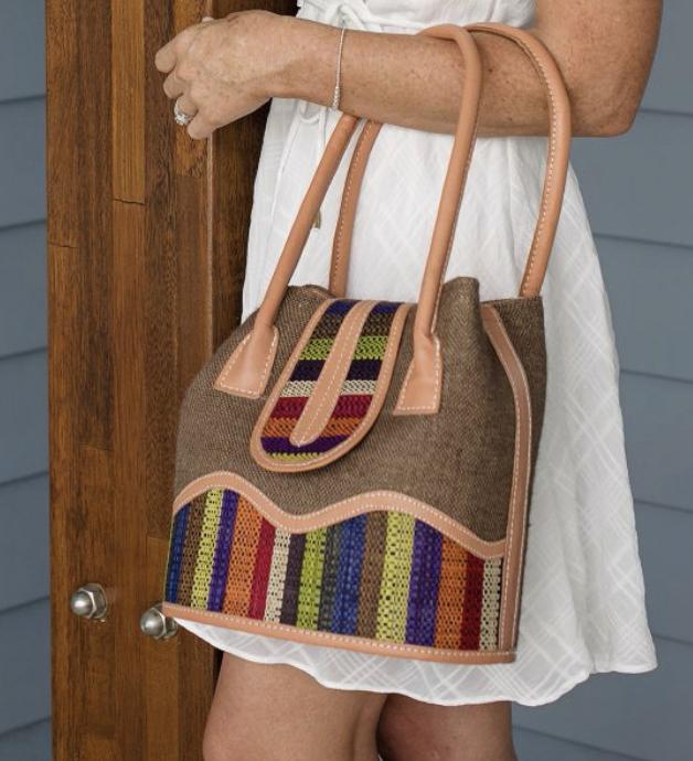 Wendy Raffia Handbag