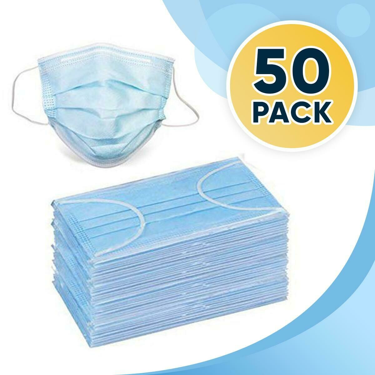 Disposable Surgical Face Mask (50-pack)