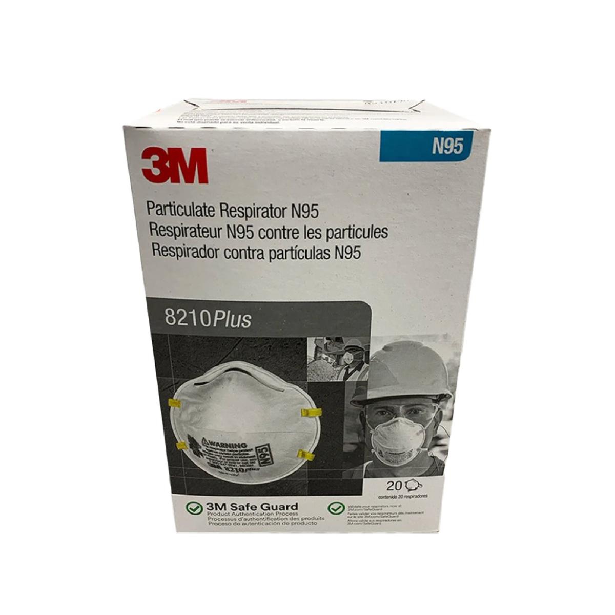 3M 8210 Plus N95 Face Masks (20-pack) 21197