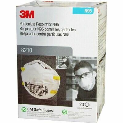 3M 8210 N95 Face Masks (20-pack)