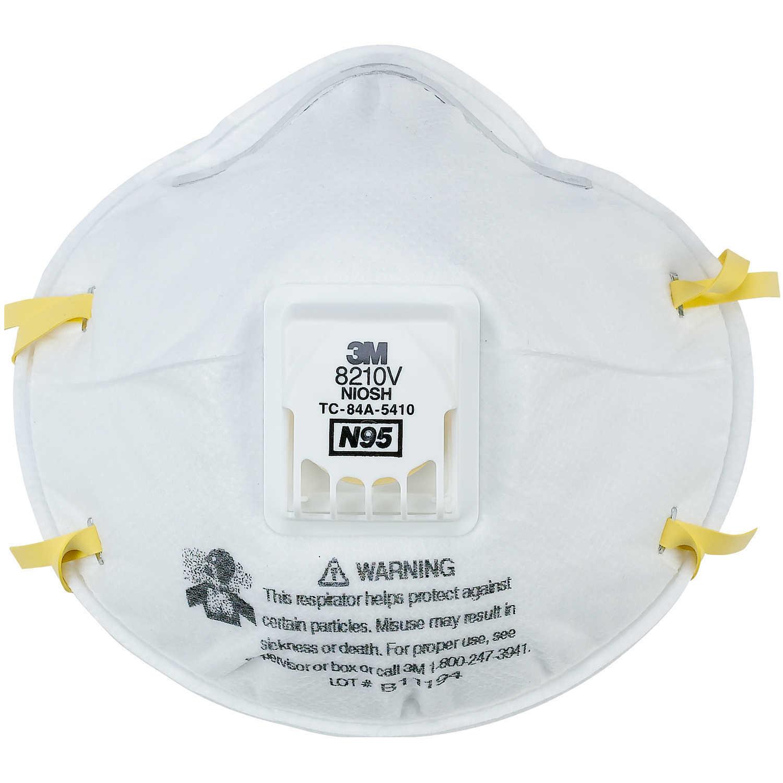 3M 8210v N95 Face Masks (10-pack)