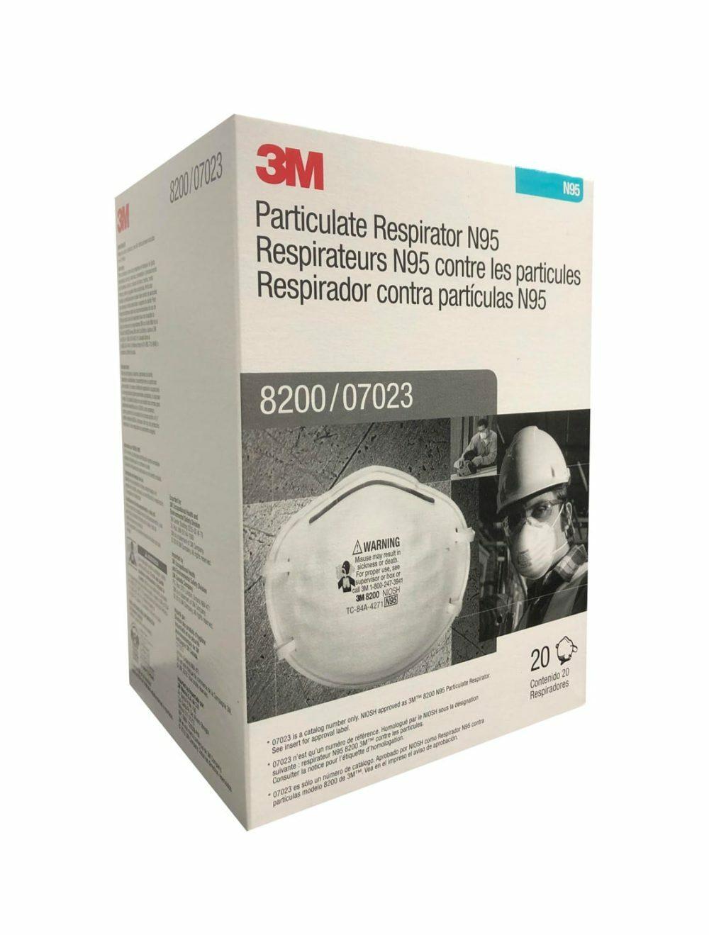 3M 8200 N95 Face Masks (20-pack) 21208