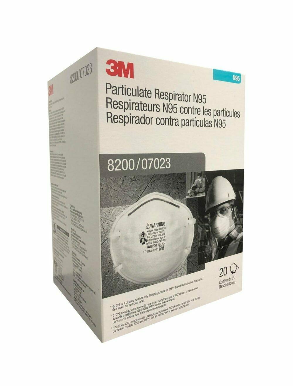 3M 8200 N95 Face Masks (20-pack)