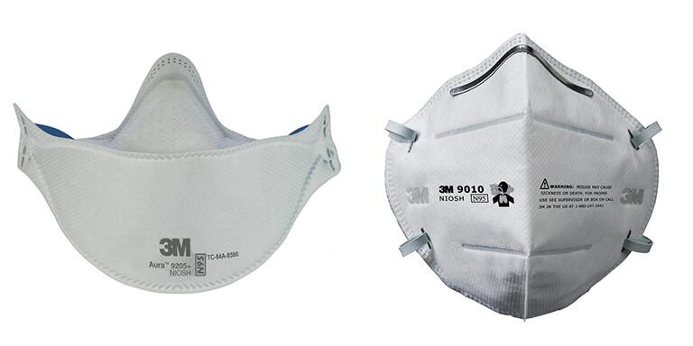 Combo 3M 9010 & 9205 Plus N95 Face Masks (20 Masks Total/ 10 Masks each)