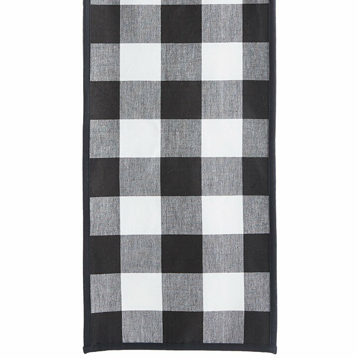 Table Runner Buffalo (Black & White)
