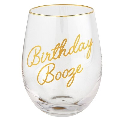 Wine Glass Bday Booze