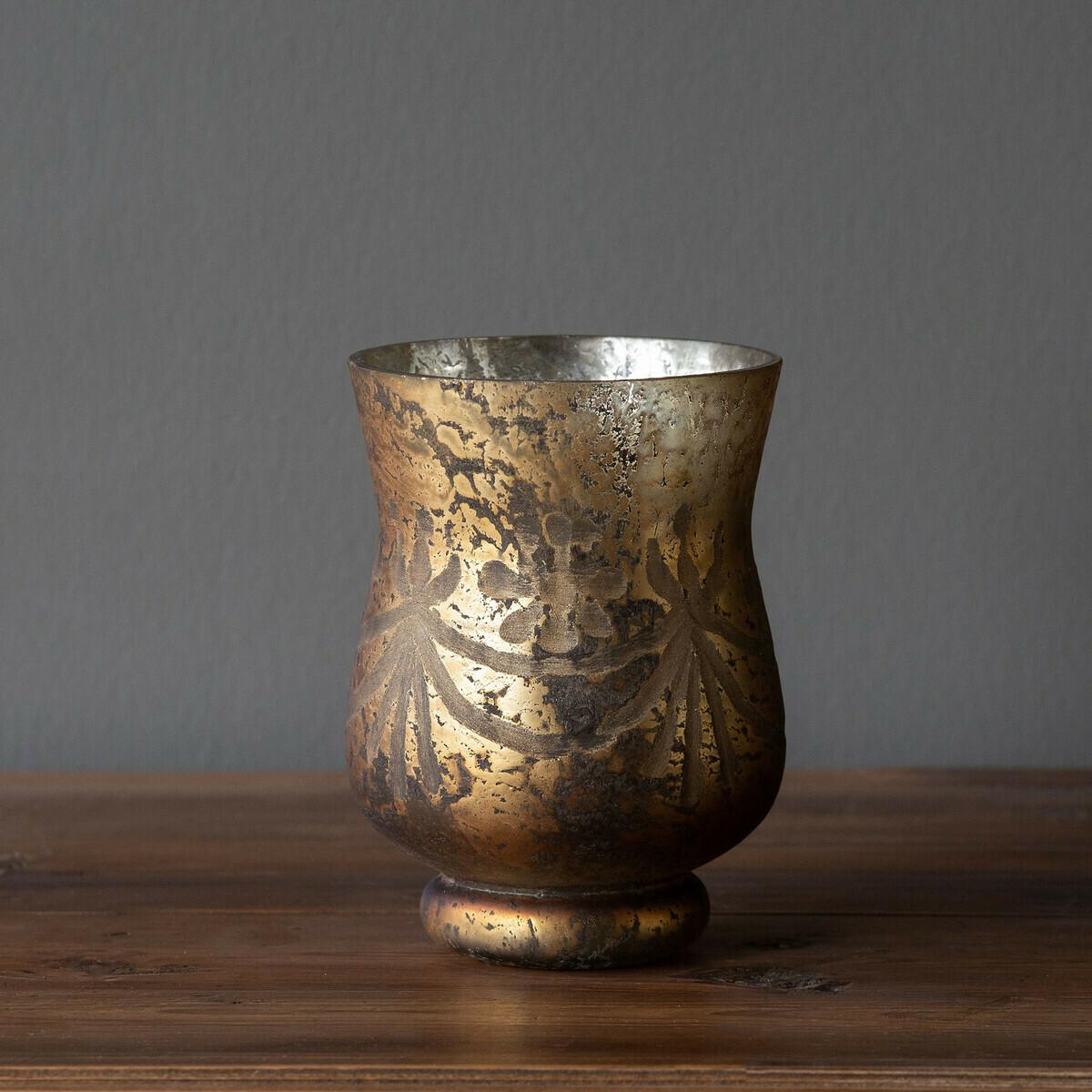 Vase Bronze Etched