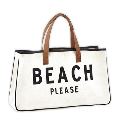 Canvas Tote-Beach Please