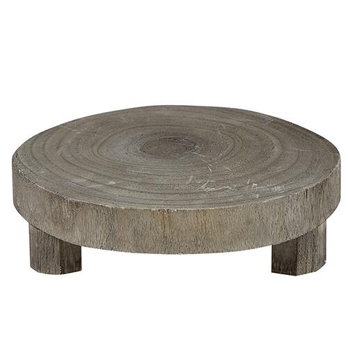 Grey Wood Riser Small