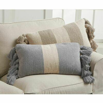 Pillow Gray Rectangular Stripe