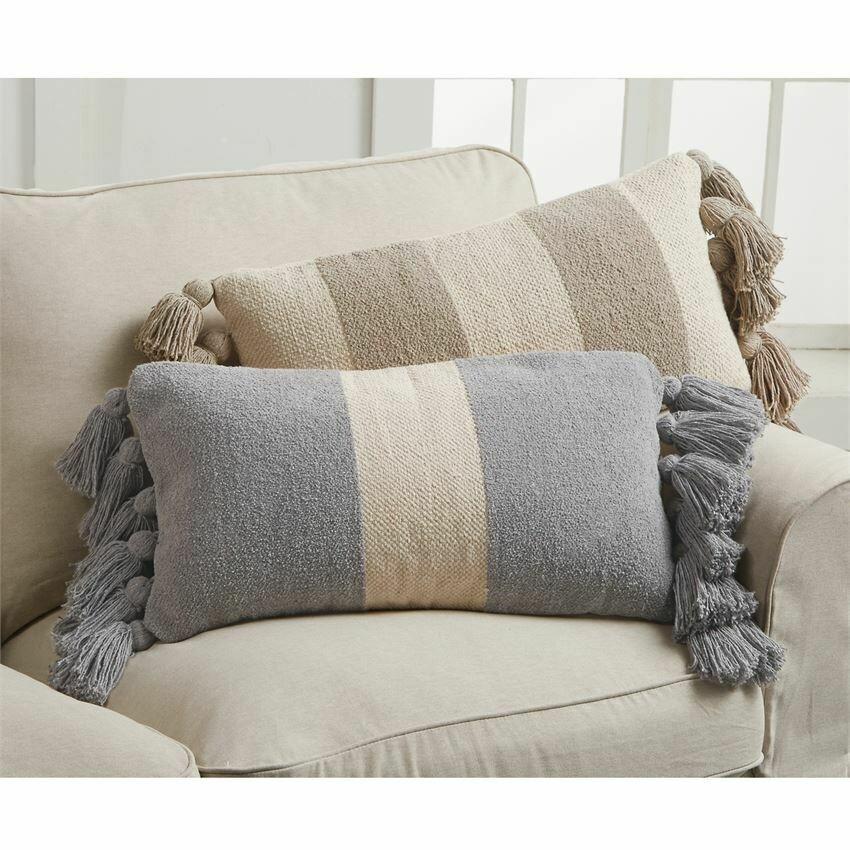 Pillow Blue Rectangular Stripe