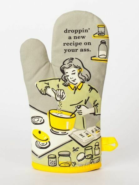 Oven Mitt Droppin' A Recipe