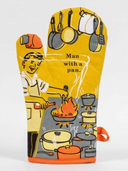 Oven Mitt Man With A Pan