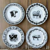 Plate Cow Lg