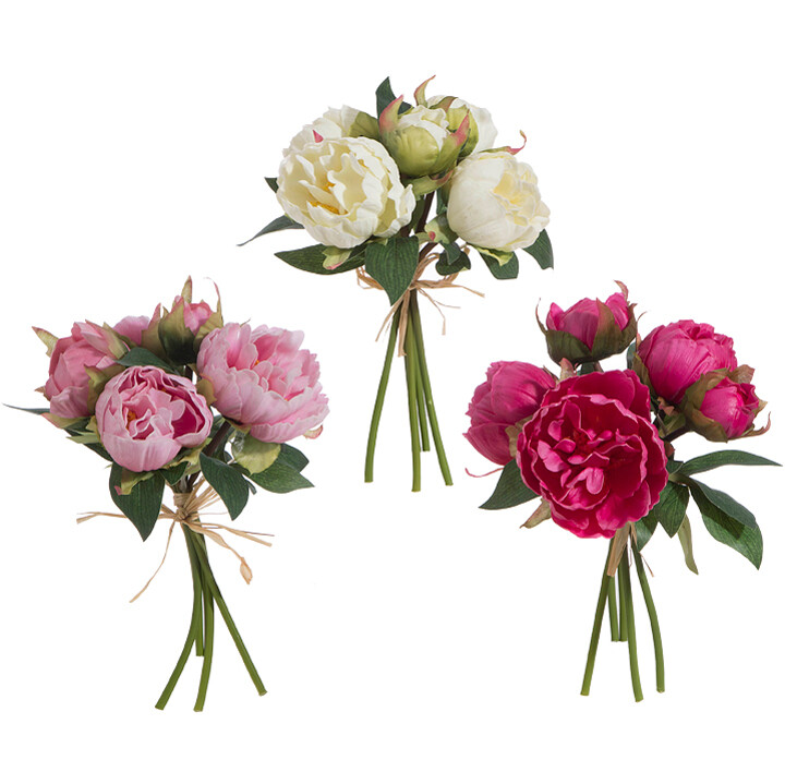 """Real Touch Peony Bundle 10"""""""